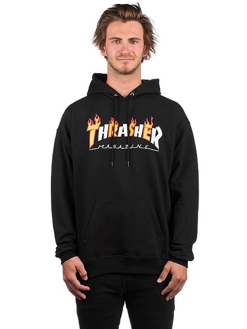 THRASHER SUDADERA Flame Magazine Black SUDADERA (XL): Amazon.es: Ropa y accesorios