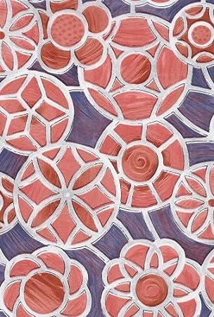 Alkor Selbstklebefolie Fensterfolie Scheibenfolie mit Blumen muster  45 x 200 cm