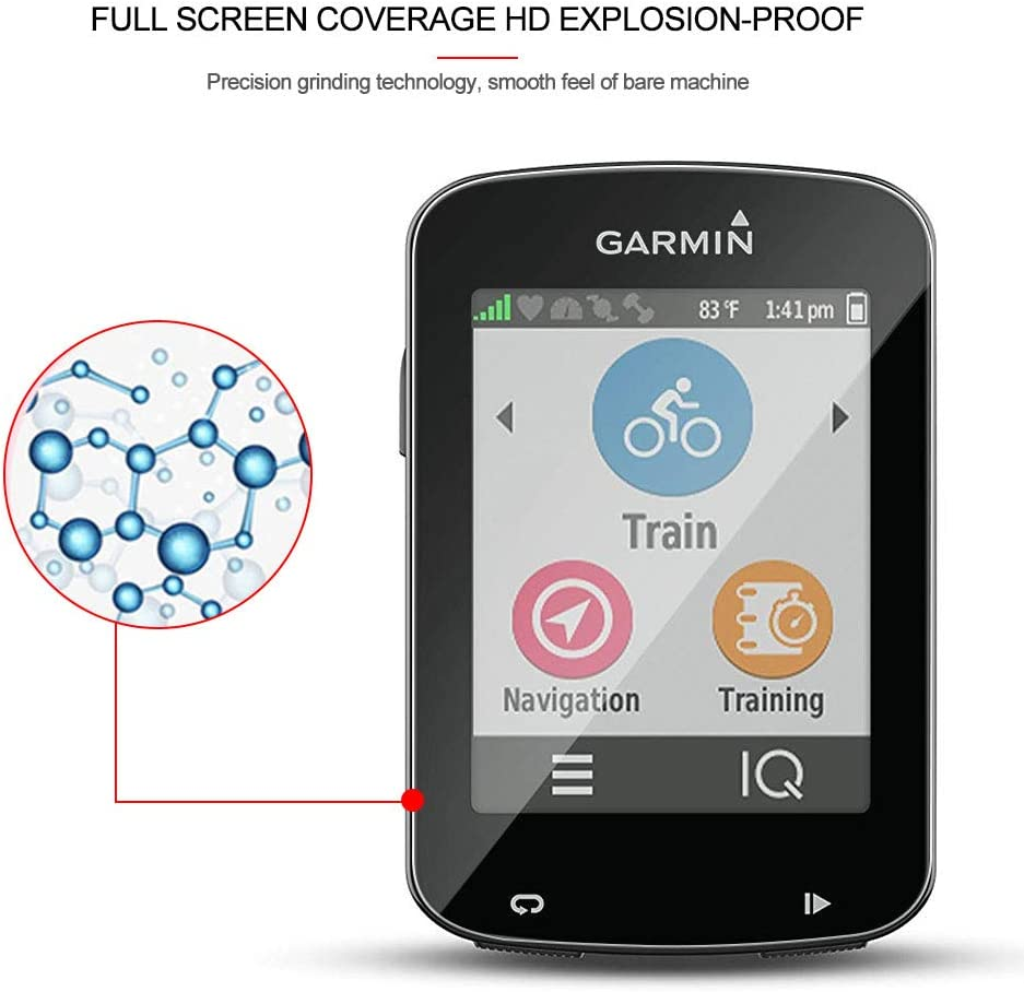 WRJ for Garmin Edge 530//Edge 830 Screen Protector,HD 3-Pack Anti-Fingerprints Bubble-Free 9H Hardness Tempered Glass with Lifetime Replacement Warranty Scratch Resistant Anti-Fall
