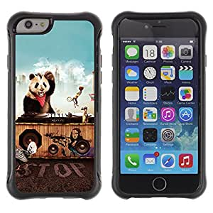 ZeTech Rugged Armor Protection Case Cover - Funny Animals Party - Apple Iphone 6