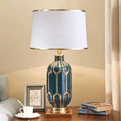 Lower Price with American Copper Ceramic Table Lamps High-end Retro Home Bedroom Room Bedside Lamp Decoration Lighting Fixture E27 Led Lamps Led Table Lamps
