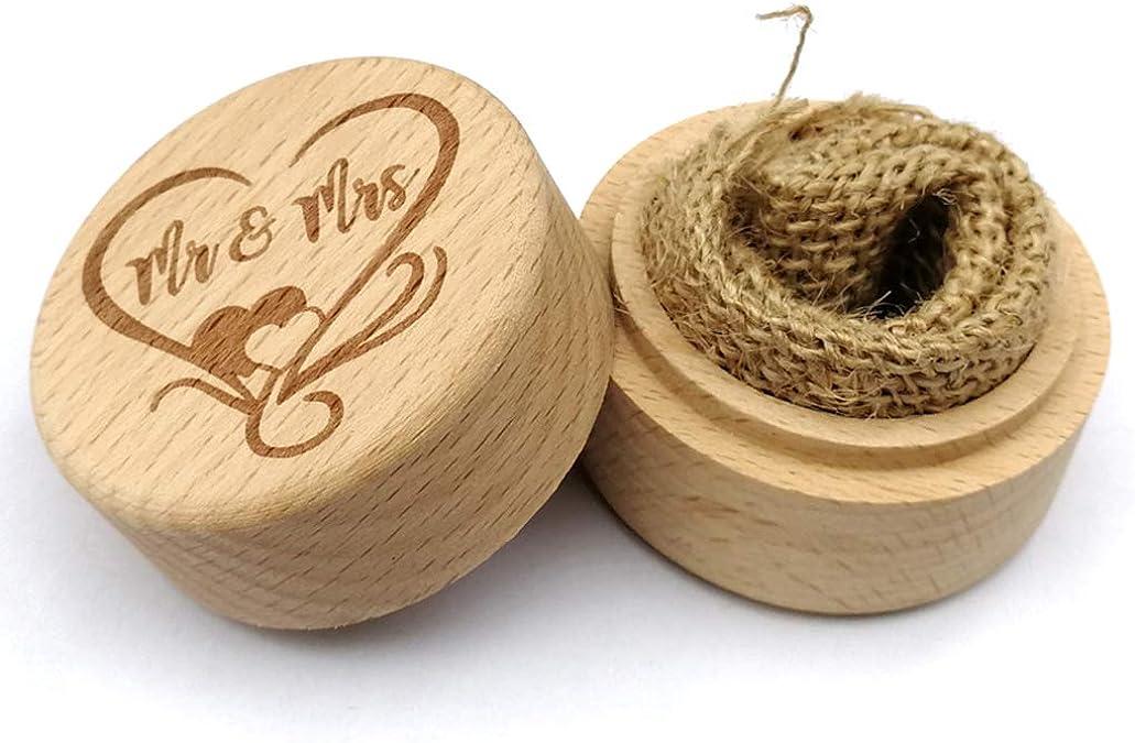 Wood Wedding Ring Box Proposal Ring Box ring bearer box with magnetic closure Guayacan Wood Lignum Vitae double ring box