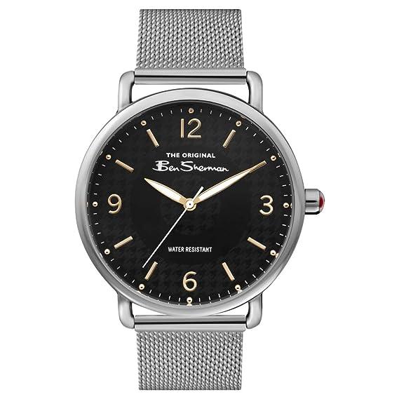 Ben Sherman Reloj Analógico para Hombre de Cuarzo con Correa en Aluminio BS015BSM
