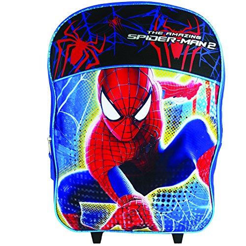 [Marvel 16 Inch Kids Roller Children's Backpack, Spiderman/Blue/Black] (Mini Me Baby Costume Uk)