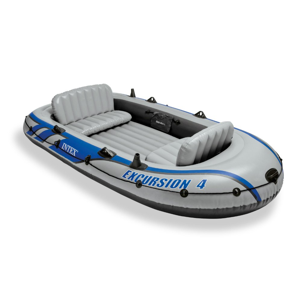 4 Person Boat Inflatable Raft Fishing Dinghy Floating