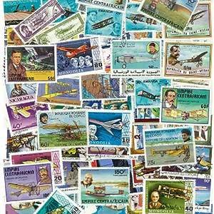 Coleccion de sellos aviones obliterados, 100 ejemplares: Amazon.es ...