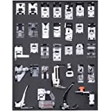 Mainstayae 32 Pcs Sewing Machine Presser Feet Set, Professional Sewing Crafting Presser Foot Feet for Janome Brother…