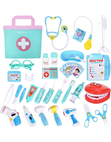 7238820acd NextX Kit Medico Giocattolo – Set di 35 Strumenti con Custodia – Gioco di  Ruolo Educativo