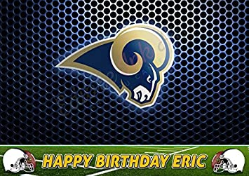 Los Angeles Rams Edible Cake Topper Personalized Birthday 1 4 Sheet Decoration Custom Party
