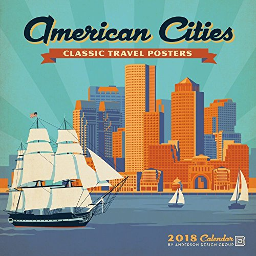 American Cities Classic Posters 2018 Wall Calendar