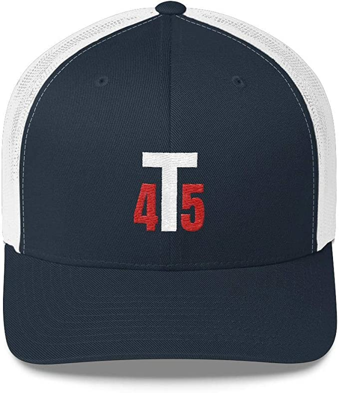 LiberTee Donald Trump 45 Hat President Trump MAGA 45th Trucker Snapback Adjustable Hat Made in USA
