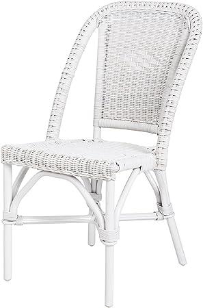 Rotin Design Rebajas : -38% Silla Blanca de Ratan de Comedor Selva ...
