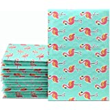 "UCGOU #000 4x8"" 50pcs Flamingo Designer Poly Bubble Mailers Padded Envelopes Boutique Custom Bags"