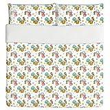 Cute Angels Duvet Bed Set 3 Piece Set Duvet Cover - 2 Pillow Shams - Luxury Microfiber, Soft, Breathable