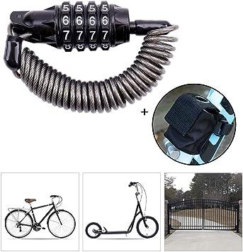 LieYuSport Candado Bici Candado Bicicleta Alta Seguridad con Bolsa de Almacenamiento,180cm Cadena Bicicleta para Candado Moto y Vehículos Eléctricos de Bicicleta Scooter etc,Haveapackage: Amazon.es: Deportes y aire libre