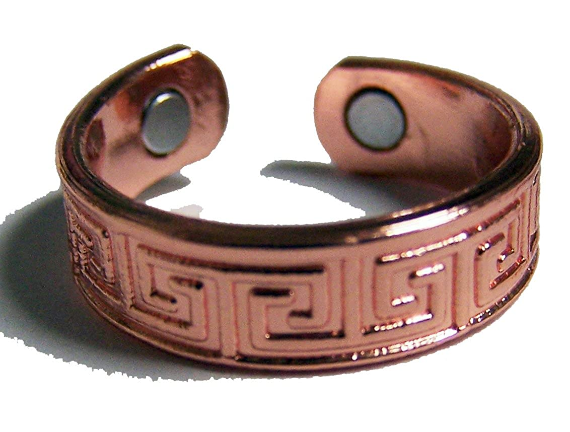 Noveltees Pure Copper Magnetic Cuff SOLID SMOOTH STYLE # AZTEC Health Ring