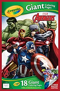 crayola avengers assemble giant coloring pages - Giant Coloring Books