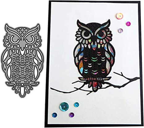 OOTSR 4 Set Elephant Owl Penguin Metal Die Cuts Metal Die Cut Stencil for DIY Crafts Scrapbook Album Paper Card Animal Die Cuts Scrapbooking Dies for Card Making