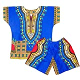Kids Dashiki Set Baby Dashiki Suit Infant Suits Dashiki Shirts Shorts One Size