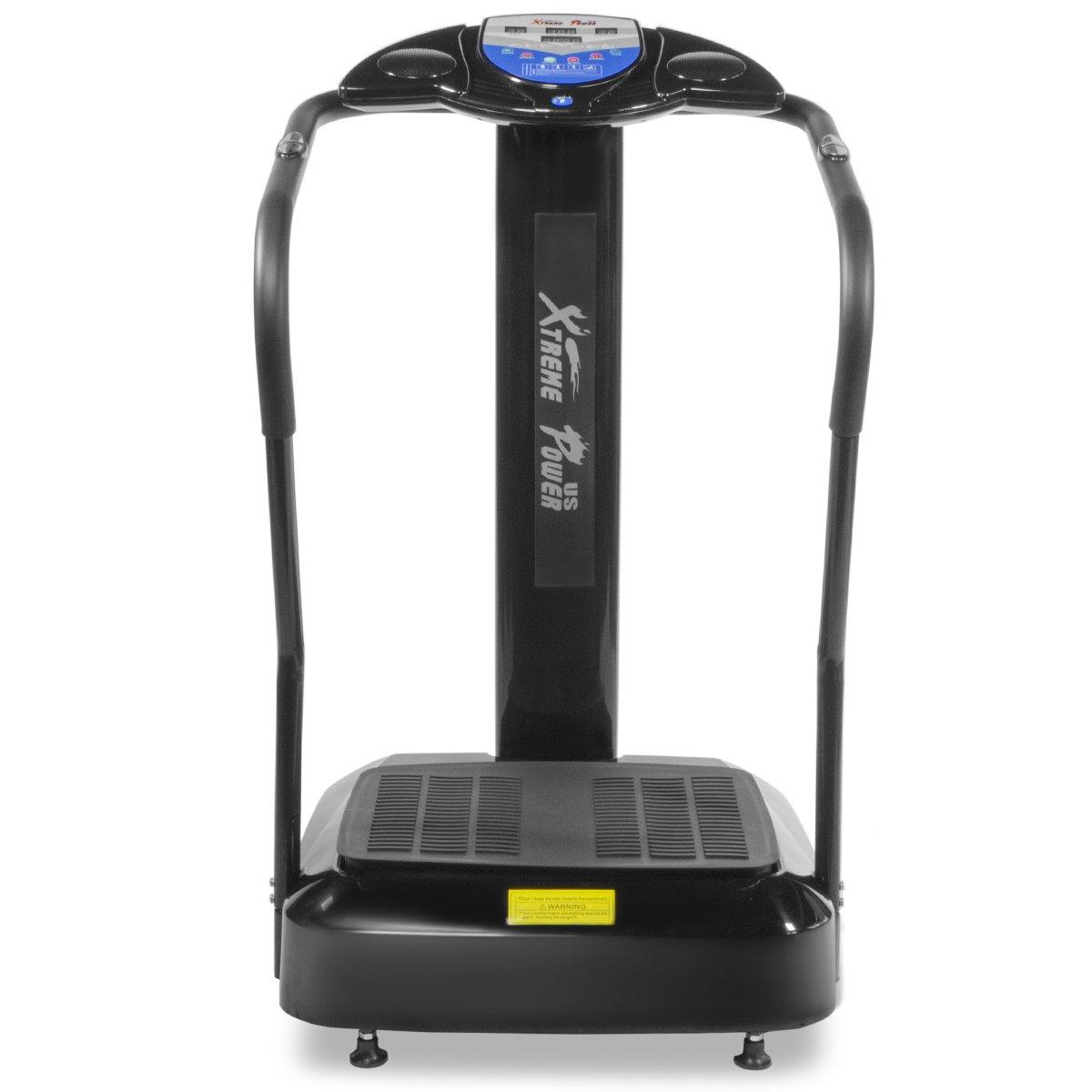 XtremepowerUS 2000W Slim Full Body Vibration Platform Exercise Crazy Fit Machine (Black) by XtremepowerUS