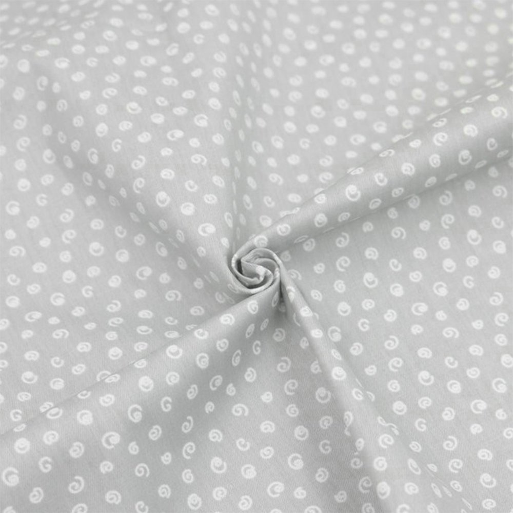 Hanjunzhao Quilting Fabric,Grey Fat Quarters Fabric Bundles,100% Cotton Fabric for Sewing Crafting,Print Floral Striped Polka Dot Gingham Fabric,18'' x 22''(Grey) by Hanjunzhao (Image #3)