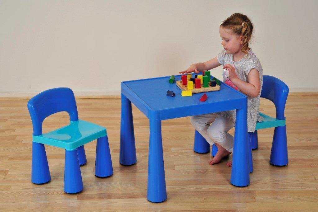 Liberty House Children's Table with 2 Chairs (Blue) LHSM004B