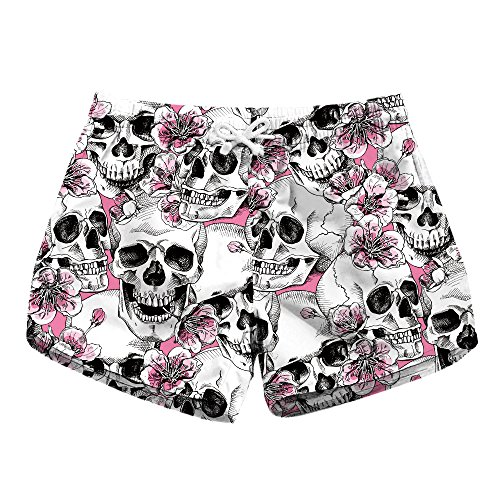 Honeystore Women's Casual Swim Trunks Quick Dry Print Boardshort Beach Shorts