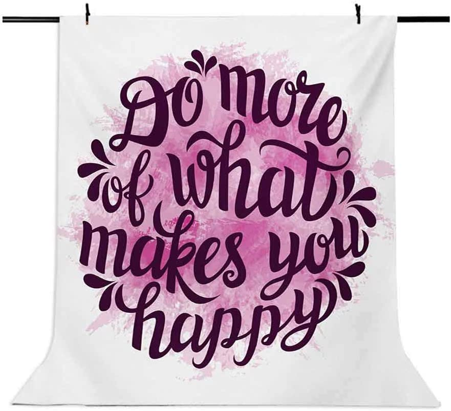 10x15 FT Backdrop Photographers,Do More of What Makes You Happy Slogan with Watercolor Brush Strokes Background Background for Kid Baby Artistic Portrait Photo Shoot Studio Props Video Drape