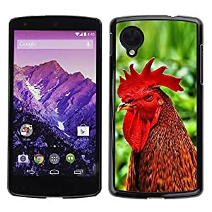 YOYO Slim PC / Aluminium Case Cover Armor Shell Portection //Cool Funny Rooster Cock //LG Google Nexus 5