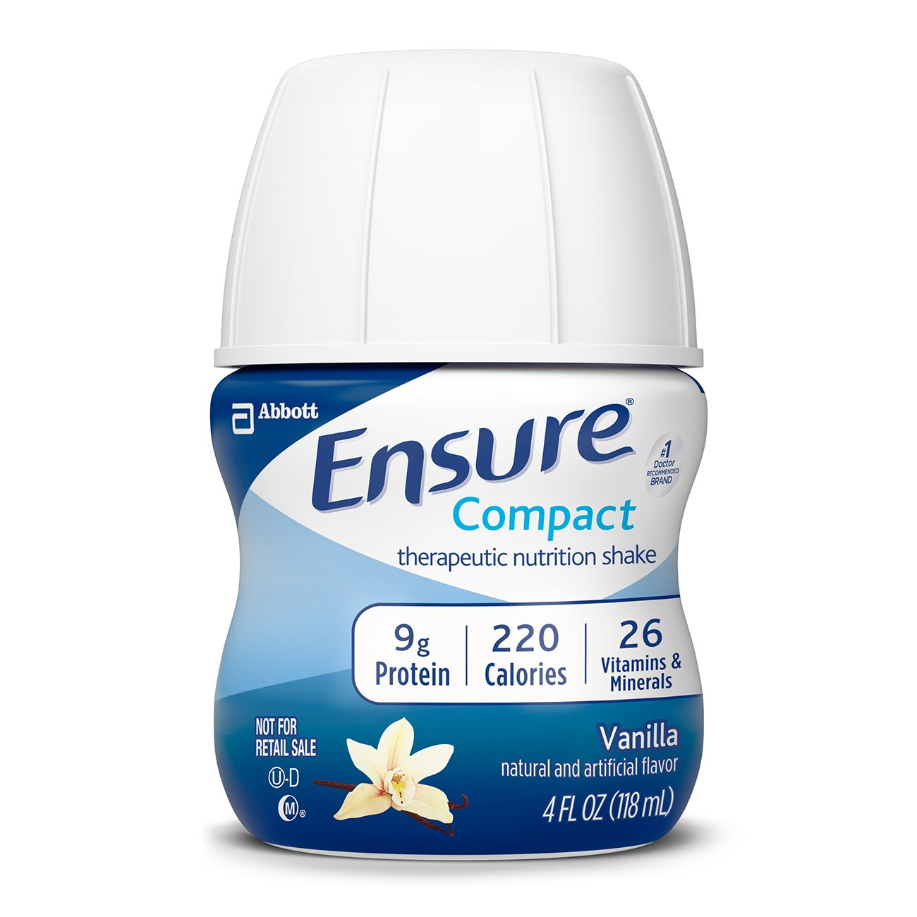 Ensure Compact Nutrition Shake, 9g of protein, Vanilla, 4 fl oz, 24 Count