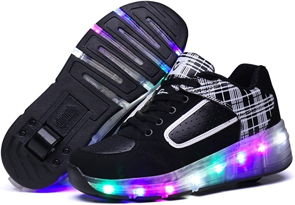 24XOmx55S99 2017 Boys Single Pulley Skating LED Shoes Casual Shoes Outdoor Sports Shoes