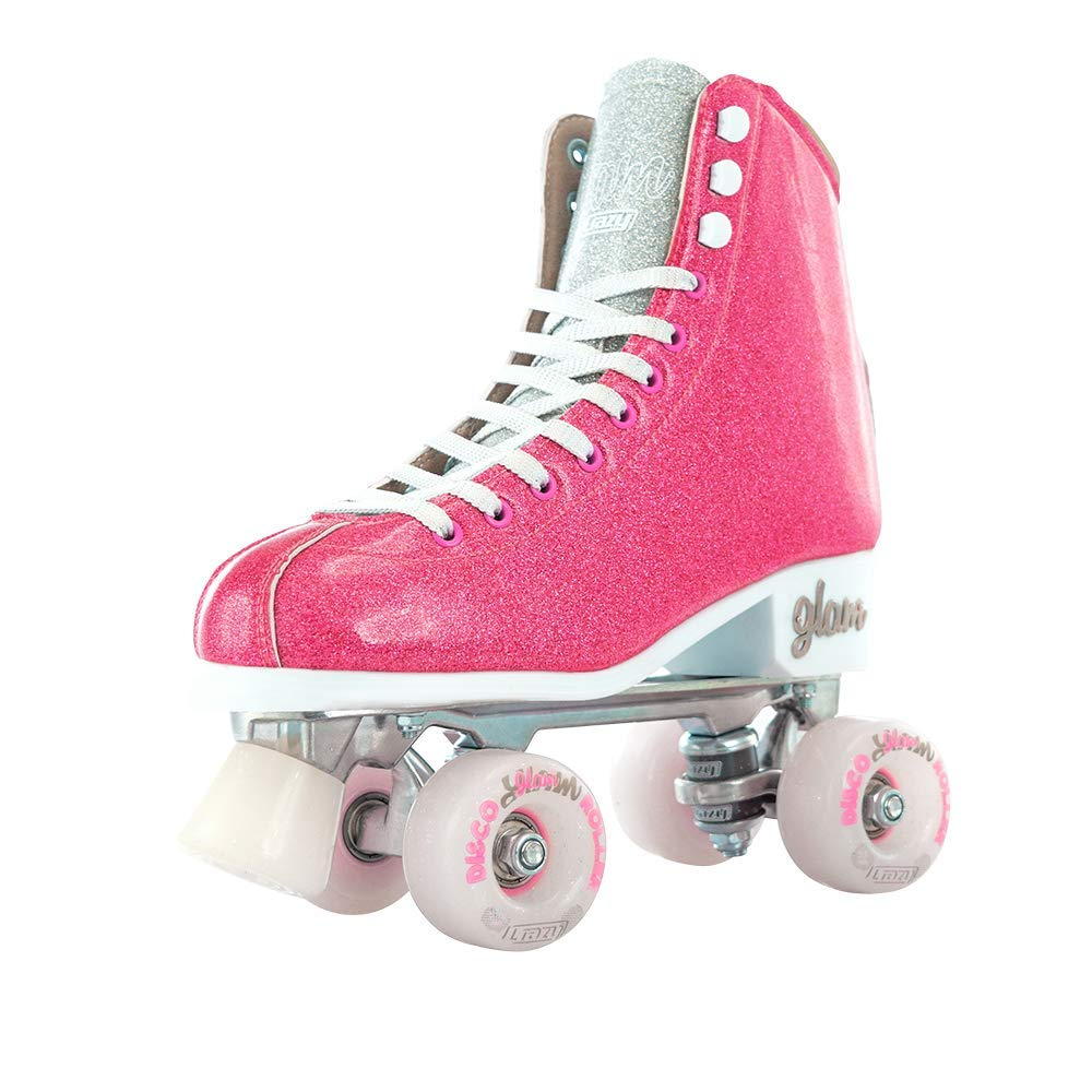 Crazy Skates Glam Roller Skates | Quad Wheel Retro Disco Style | Glamorous Sparkle Finish Skates, Laces and Wheels