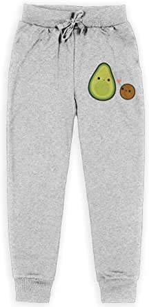 Yuanmeiju Cute Avocado and Stone Cute Avocado and Stone Boys Pantalones Deportivos,Pantalones Deportivos for Teens Boys Girls