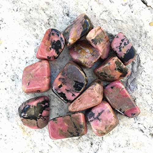 Sparkle Rock Pop Rhodonite Crystal Tumble Bag - 10 oz, 13 total stones - Natural Gemstones for Jewelry and Crafts - Communication, Learning, Development - Bag Ounce Gems 10