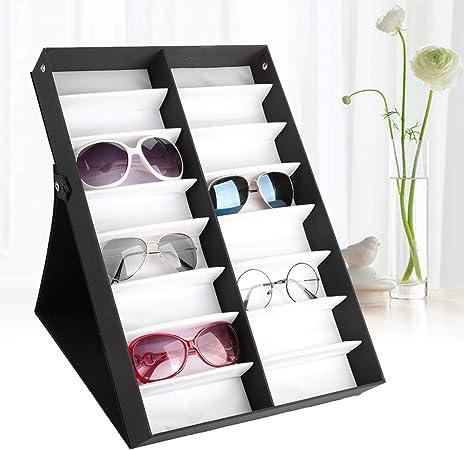 Cocoarm - Caja de almacenamiento para 16 gafas de sol, 48,5 x 33 x 6 cm: Amazon.es: Hogar
