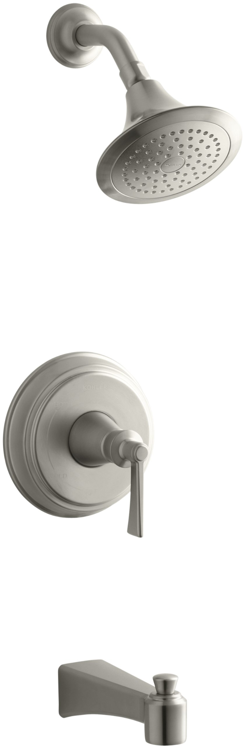 KOHLER K-T11077-4E-BN Archer Bath/Shower Trim Set, Valve Not Included, Vibrant Brushed Nickel by Kohler