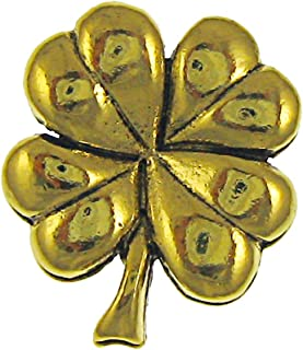 product image for Jim Clift Design Four Leaf Clover Gold Lapel Pin