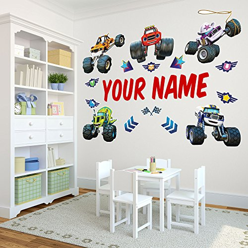 Personalized Blaze and the Monster MachinesTM Kids Name Wall Decal Life Size (Names Of Monster High Characters)