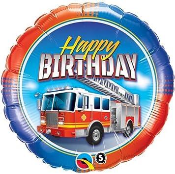Fireman Sam Joyeux Anniversaire Camion Pompier Qualatex 18 Pouce Suprafeuille Ballon Amazon Fr Jeux Et Jouets