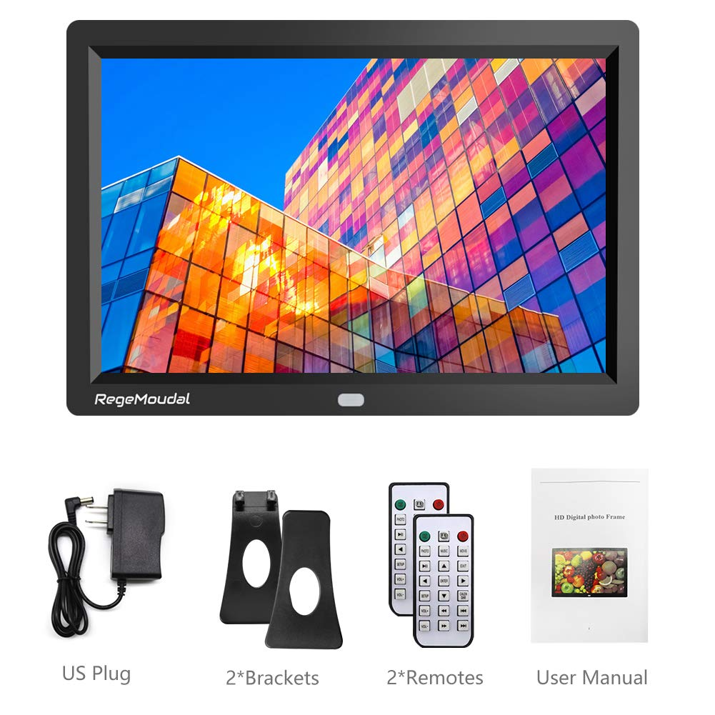 RegeMoudal 10 inch Digital Photo Frames with High Resolution 1280 X 800 IPS LCD Panel, Support 64G SD Card and USB Stick Various Display Modes, for 1080P Videos/Pictures/Calendar/Time/Music Black by RegeMoudal (Image #7)