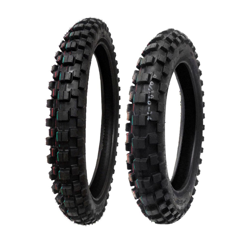 TIRE SET: Front 70/100-17 Rear 90/100-14 Dirt Bike Off Road