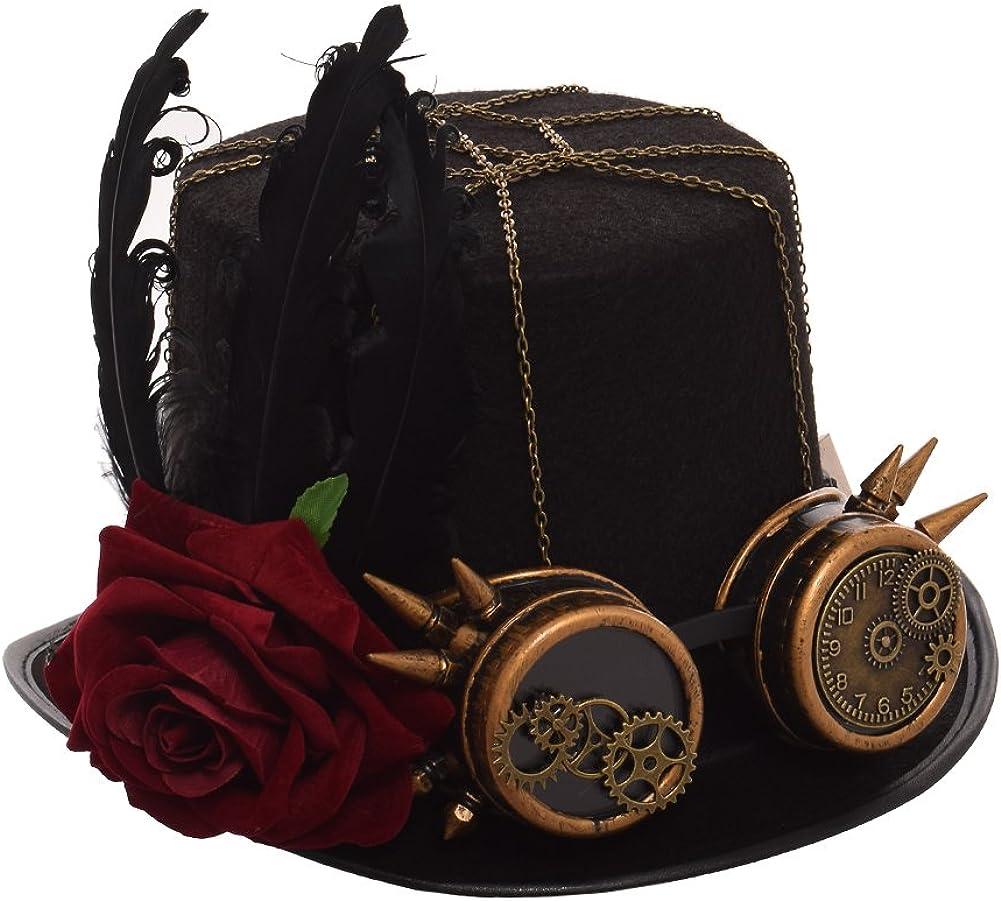GRACEART Steampunk hacia parte superior sombreros con google (varios estilos)