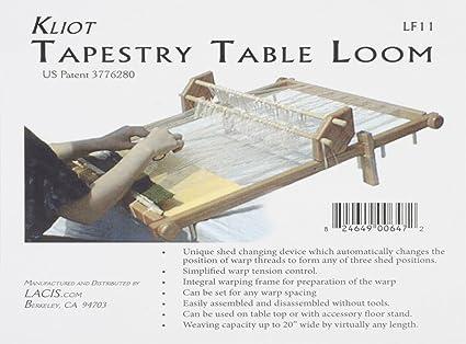 Amazon.com: Lacis Kliot Tapestry Loom, 20-Inch, Hardwood