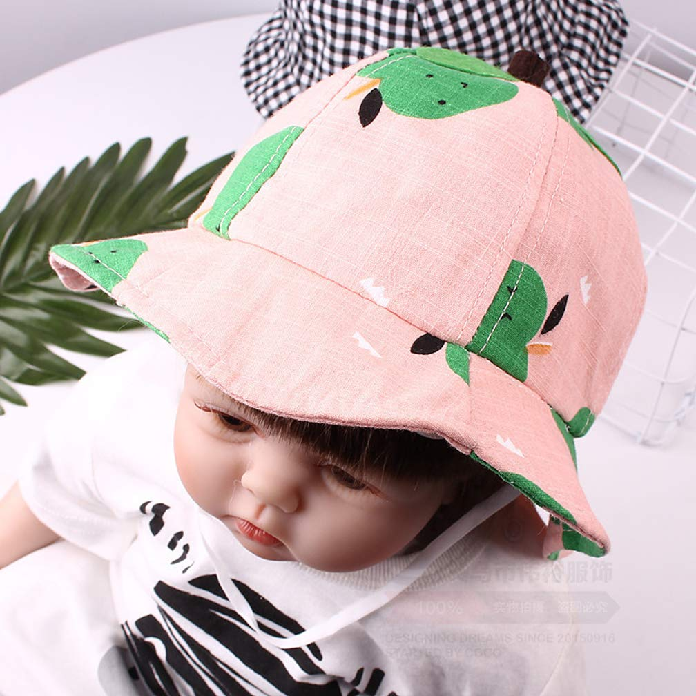Baby Girls Sun Hats Sun Protection Beach Hat for Kids Leaves Fishermans hat 1-4T