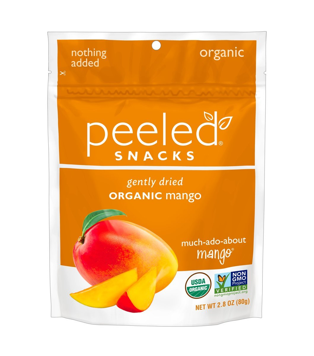Peeled Snacks Organic Dried Fruit, Much-Ado-About-Mango, 2.8 Ounce (Pack Of 12)