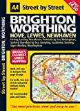 AA Street by Street: Brighton Worthing: Hove, Lewis, Newhaven