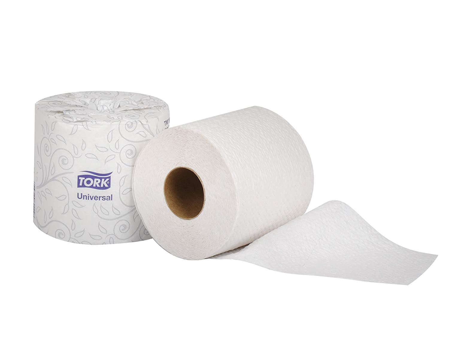 Case of 96 Rolls, 500 Sheets per Roll, 48,000 Sheets per Case Tork TM1616 Universal Bath Tissue Roll 4.5 Width x 3.75 Length White 2-Ply