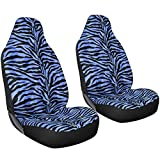 zebra striped car accessories - Oxgord 2pc Integrated Zebra Bucket Seat Covers, Universal Fit for Car/Truck/Van/SUV, Blue & Black
