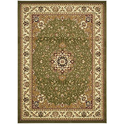 "Safavieh Lyndhurst Collection LNH329A Traditional Medallion Black and Ivory Runner (2'3"" x 12')"