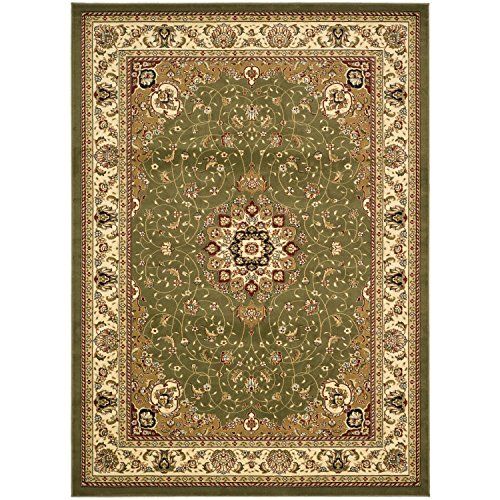 Safavieh Lyndhurst Collection LNH329B Traditional Medallion Sage and Ivory Area Rug (8' x -
